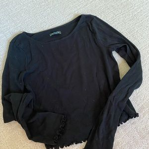 Wild fable black frilly top